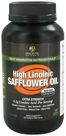 DROPPED: Genceutic Naturals - High Linoleic Safflower Oil - 224 Softgels