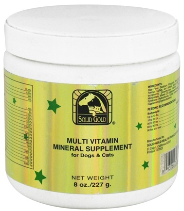 DROPPED: Solid Gold - Multi Vitamin Mineral Supplement For Dogs & Cats - 8 oz.