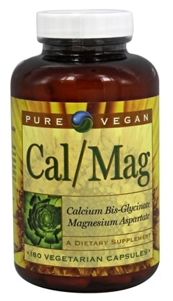 DROPPED: Pure Vegan - Cal/Mag - 180 Capsules CLEARANCE PRICED
