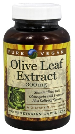 DROPPED: Pure Vegan - Olive Leaf Extract 300 mg. - 90 Vegetarian Capsules CLEARANCE PRICED
