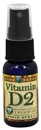 DROPPED: Pure Vegan - D2 Spray 400 IU - 1 oz. CLEARANCE PRICED