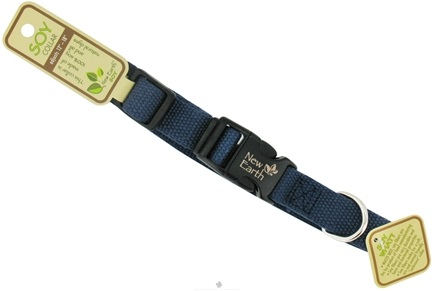 DROPPED: Coastal Pet Products - New Earth Soy Pet Collar Medium 3/4 Inch Indigo - CLEARANCE PRICED