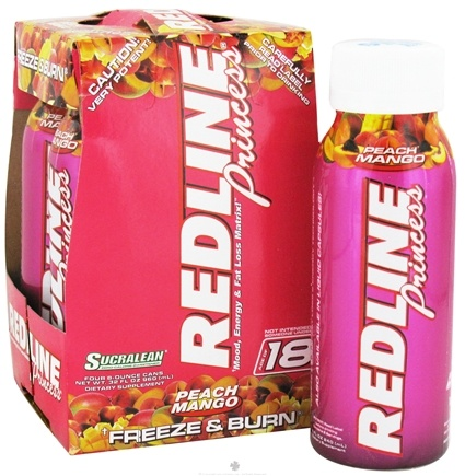 DROPPED: VPX - Redline Princess RTD Mood Energy & Fat Loss Matrix 4 x 8oz. Peach Mango - 4 Pack