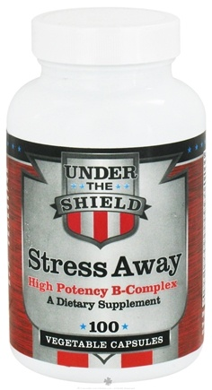 DROPPED: Under the Shield - Stress Away - 100 Vegetarian Capsules CLEARANCE PRICED