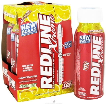 DROPPED: VPX - Redline Xtreme Ultimate Energy Rush RTD Energy Drink 4 x 8 oz. Lemonade - 4 Pack CLEARANCE PRICED