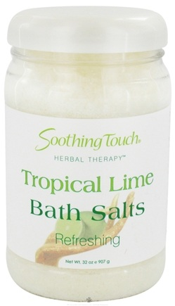 DROPPED: Soothing Touch - Bath Salts Refreshing Tropical Lime - 32 oz.