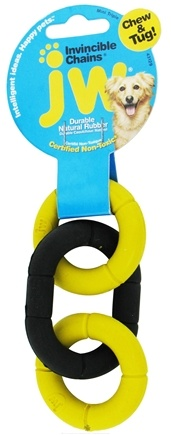 DROPPED: JW Pet Company - Invincible Chains Mini Triple Dog Toy - CLEARANCE PRICED