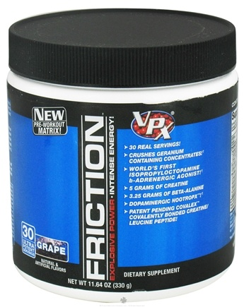 DROPPED: VPX - Friction Pre-Workout Matrix - 30 Servings Grape - 11.64 oz. CLEARANCE PRICED