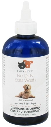 DROPPED: Love2Pet - No Dirty Ear Wash For Dogs - 8 oz.
