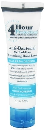 DROPPED: 4 Hour Protection - Alcohol-Free Antibacterial Moisturizing Hand Lotion - 2 oz.