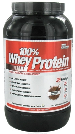 DROPPED: Top Secret Nutrition - 100% Whey Protein Chocolate Ice Cream - 2 lbs.