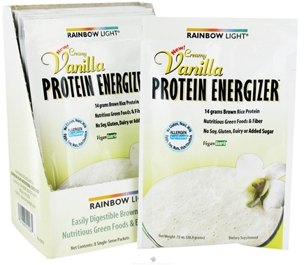 DROPPED: Rainbow Light - Protein Energizer Shake Powder Packet Creamy Vanilla - 0.72 oz.