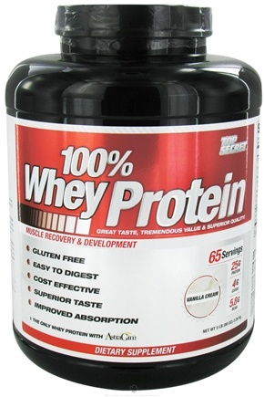 DROPPED: Top Secret Nutrition - 100% Whey Protein Vanilla Cream - 5 lbs.