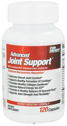 DROPPED: Top Secret Nutrition - Advanced Joint Support - 120 Capsules CLEARANCE PRICED
