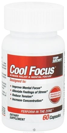 DROPPED: Top Secret Nutrition - Cool Focus - 60 Capsules CLEARANCE PRICED