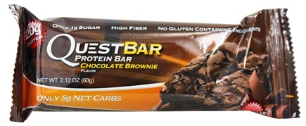 DROPPED: Quest Nutrition - Quest Bar Protein Bar Chocolate Brownie - 2.12 oz. Former Packaging