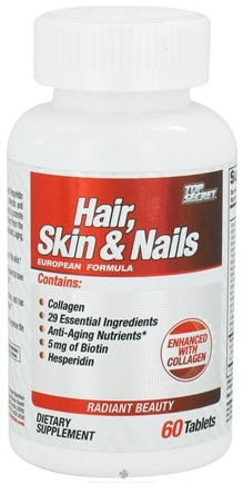 DROPPED: Top Secret Nutrition - Hair, Skin and Nails - 60 Tablets CLEARANCE PRICED