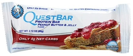 DROPPED: Quest Nutrition - Quest Bar Protein Bar Peanut Butter & Jelly - 2.12 oz. Former Packaging