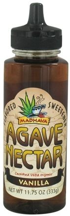 DROPPED: Madhava Natural Sweeteners - Agave Nectar Flavored Sweetener Vanilla - 11.75 oz. CLEARANCE PRICED