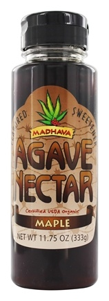 Madhava Natural Sweeteners - Agave Nectar Flavored Sweetener Maple - 11.75 oz.