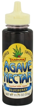 DROPPED: Madhava Natural Sweeteners - Agave Nectar Flavored Sweetener Blueberry - 11.75 oz.
