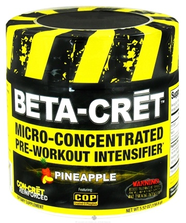 DROPPED: Promera Health - Beta-Cret Micro-Concentrated Pre-Workout Intensifier - 36 Servings Pineapple - 5.52 oz. CLEARANCE PRICED