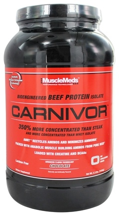 DROPPED: MuscleMeds - Carnivor Bioengineered Beef Protein Isolate Chocolate - 2.3 lbs.