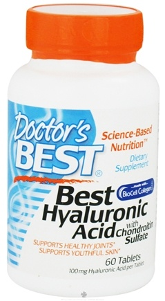 DROPPED: Doctor's Best - Best Hyaluronic Acid with Chondroitin Sulfate 100 mg. - 60 Tablets CLEARANCE PRICED