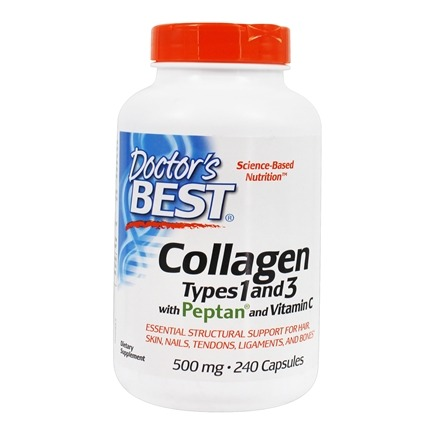 Doctor's Best - Best Collagen Types 1 & 3 500 mg. - 240 Capsules
