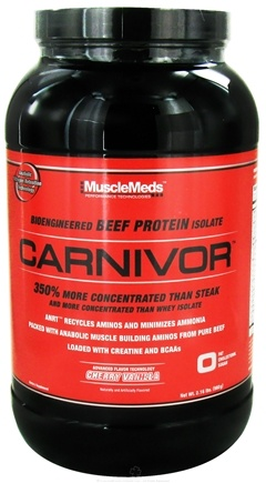 DROPPED: MuscleMeds - Carnivor Bioengineered Beef Protein Isolate Cherry Vanilla - 2.16 lbs. CLEARANCE PRICED
