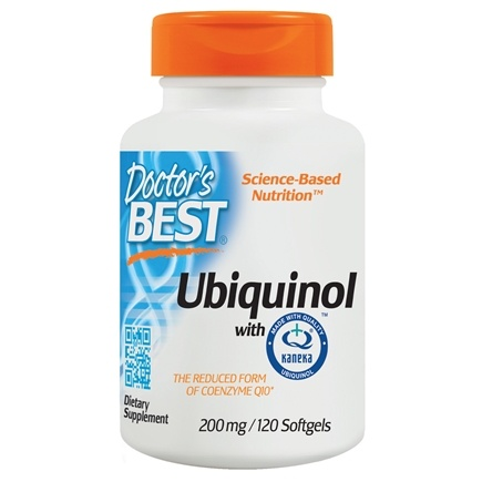 Doctor's Best - Best Ubiquinol featuring Kaneka's QH 200 mg. - 120 Softgels