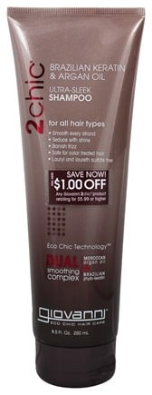 Giovanni - 2Chic Brazilian Keratin & Argan Oil Ultra-Sleek Shampoo - 8.5 oz.