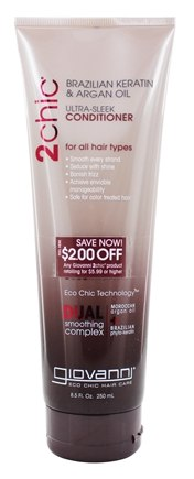 Giovanni - 2Chic Brazilian Keratin & Argan Oil Ultra-Sleek Conditioner - 8.5 oz.