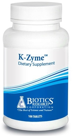 DROPPED: Biotics Research - K-Zyme - 100 Tablets CLEARANCE PRICED