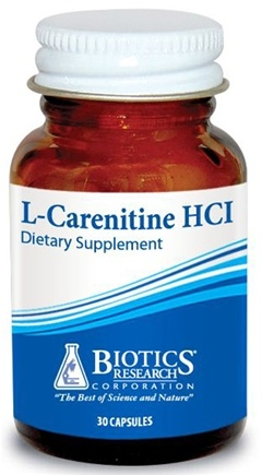 DROPPED: Biotics Research - L-Carnitine HCl - 30 Capsules CLEARANCE PRICED