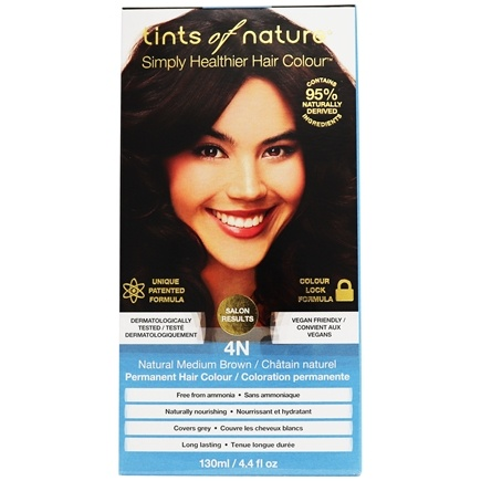 Tints Of Nature - Conditioning Permanent Hair Color 4N Natural Medium Brown - 4.4 oz. LUCKY PRICE