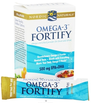 DROPPED: Nordic Naturals - Omega-3 Fortify 500 mg. - 7 Packet(s) CLEARANCE PRICED
