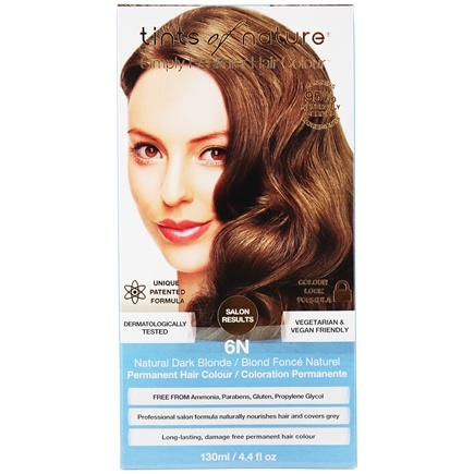 Tints Of Nature - Conditioning Permanent Hair Color 6N Natural Dark Blonde - 4.4 oz. LUCKY PRICE