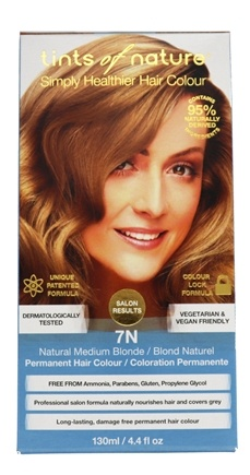 Tints Of Nature - Conditioning Permanent Hair Color 7N Natural Medium Blonde - 4.4 oz.