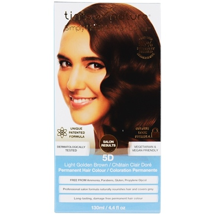 Tints Of Nature - Conditioning Permanent Hair Color 5D Light Golden Brown - 4.4 oz.