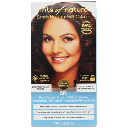 Tints Of Nature - Conditioning Permanent Hair Color 5R Rich Copper Brown - 4.4 oz.