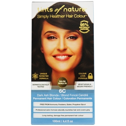 Tints Of Nature - Conditioning Permanent Hair Color 6C Dark Ash Blonde - 4.4 oz. LUCKY PRICE