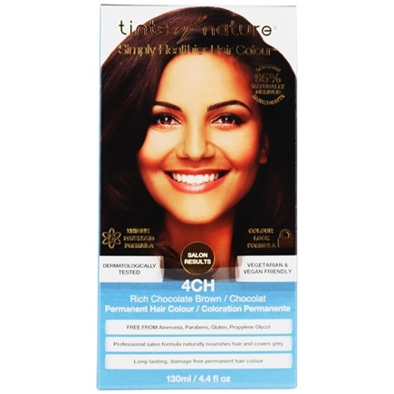 Tints Of Nature - Conditioning Permanent Hair Color 4CH Rich Chocolate Brown - 4.4 oz.
