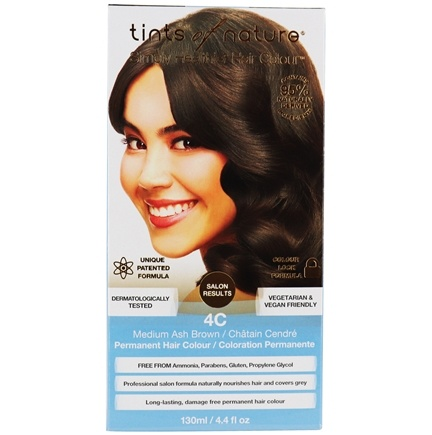 Tints Of Nature - Conditioning Permanent Hair Color 4C Medium Ash Brown - 4.4 oz.