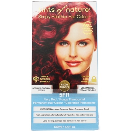 Tints Of Nature - Permanent Hair Color 5FR Fiery Red - 4.4 oz.