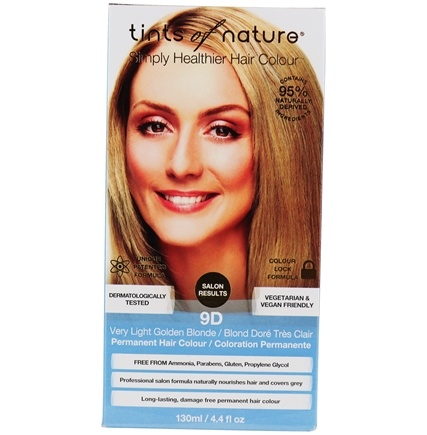 Tints Of Nature - Conditioning Permanent Hair Color 9D Very Light Golden Blonde - 4.4 oz. LUCKY PRICE