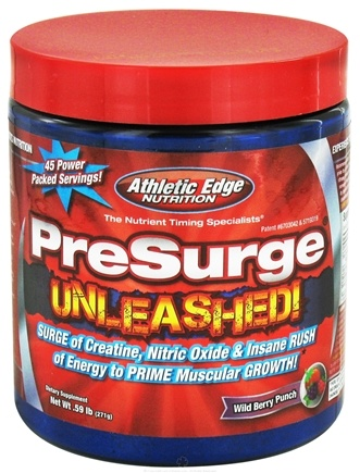 DROPPED: Athletic Edge Nutrition - PreSurge Unleashed 45 Servings Wild Berry Punch - 0.59 lbs. CLEARANCE PRICED