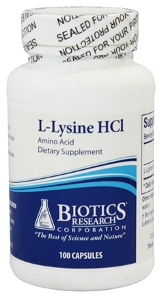 Biotics Research - L-Lysine HCl - 100 Capsules