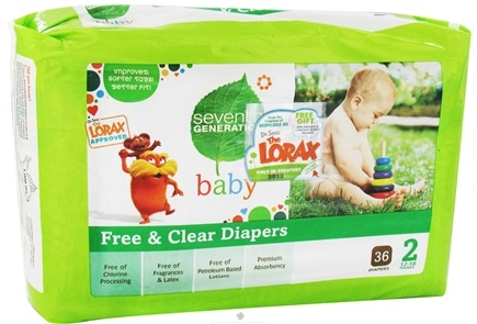 DROPPED: Seventh Generation - Free and Clear Baby Diapers Stage 2 (12-18 lbs.) - 36 Diaper(s)