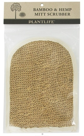 DROPPED: Plantlife Natural Body Care - Bamboo & Hemp Mitt Scrubber - CLEARANCE PRICED